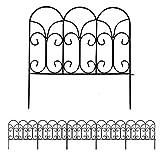 46 cm x 230 cm Clôture Décorative Métal Pour Jardin Motif Paysage et Barrière Barriere de Jardin Noir
