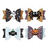 4pcs Horquilla de Halloween Pinzas de Pelo de Halloween para Niños Hebillas de Pelo Pinza de Pelo Infantil, Ideal para Niños Niñas Y También para Adultos para Halloween Navidad