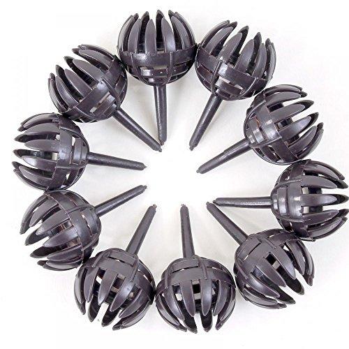 Lot de 10 paniers d'engrais ronds avec broche Marron foncé Ø 2,5 cm 61009