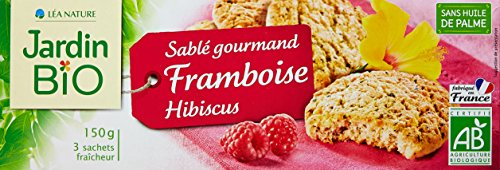 Jardin Bio Sablé Gourmand Framboise Hibiscus 150 g