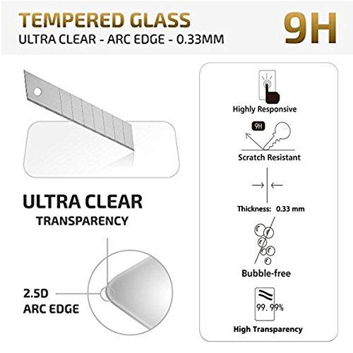 NEW'C PanzerglasFolie Schutzfolie für Huawei P10 Lite, [2 Stück] Frei von Kratzern Fingabdrücken und Öl, 9H Härte, HD Displayschutzfolie, 0.33mm Ultra-klar, Displayschutzfolie Huawei P10 Lite - 4