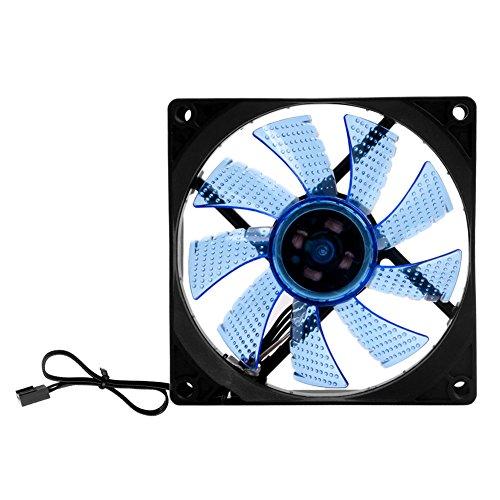 SCASTOE 3luz LED PC computadora de Escritorio Caso Ventilador de refrigeración 90mm bajo Ruido 9025, Casual, Azul