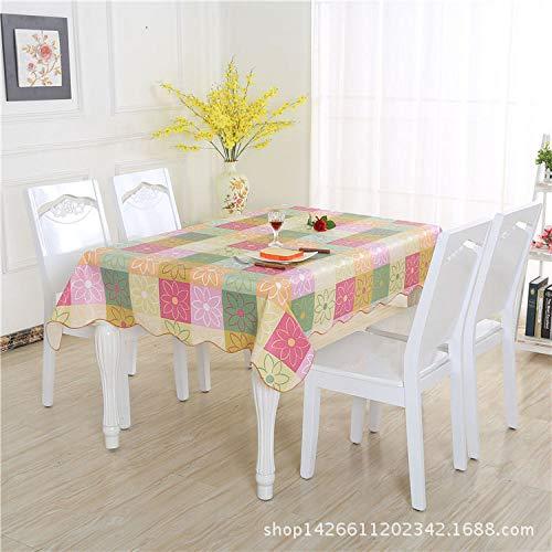 pdud Tovaglia impermeabile rotonda rettangolare del panno di tavolino da salotto dell'hotel della tovaglia di stampa di plastica del PVC