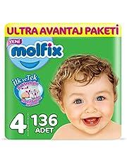 Molfix 3D Bebek Bezi Maxi 4 Beden, Ultra Avantaj Paketi, 136 Adet