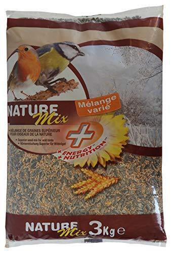 Aime Nourriture pour Oiseaux, Mélange de Graines Varié et Nourrissant, Sac de 3 KG, Pour Oiseaux du Ciel et Animaux Sauvages