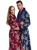 FGDSA Pijamas de Lana de Coral Yukata de Gran tamaño Pijamas de Invierno para Hombres Pijamas de Pareja Gruesos Cómodo (Color: Red, Size: L)