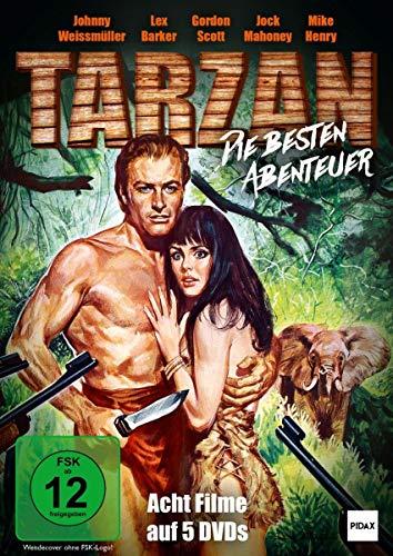 Tarzan - Die besten Abenteuer / Acht spannende Abenteuer mit den beliebtesten Tarzan-Darstellern (Pidax Film-Klassiker) [5 DVDs]