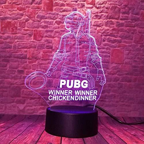 Illusionslampe Nachtlampe Souvenir Geschenk Spiel Fans 7 Farbwechsel Boy Man 3D LED Tischlampe Store Halloween Party USB Drei-in-Eins-Modus-Taste Visuelles Licht Buntes Wechselbett