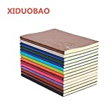 XIDUOBAO Writing Journal Notebook, PU Leather Colorful Journals, Daily Notepad Diary Cute Journal Travel Notebooks Wide...