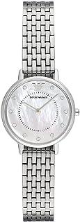 ساعة للنساء من امبوريو ارماني، بلون فضي
