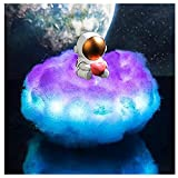 Fewear Creative Led Colorful Clouds Astronaut Lamp with Rainbow Effect, Astronaut Holding A Heart Lamp, Children's Night Light Creative Décor Gift Kids Room Décor, Kids Night Light (Heart)