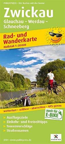 Zwickau, Glauchau - Werdau - Schneeberg: Rad- und Wanderkarte mit Ausflugszielen, Einkehr- & Freizeittipps, Straßennamen, wetterfest, reissfest, ... 1:50000 (Rad- und Wanderkarte: RuWK)