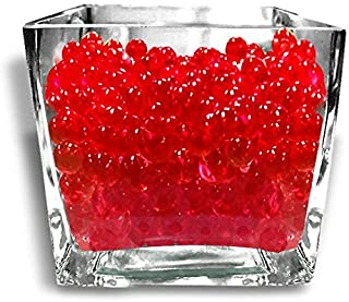 Red Color Water Gel Beads Pearls 1 Pound for Vase Filler, Candles, Wedding Centerpiece, Home Decoration, Plants, Toys, Education. Makes 12 Gallons