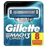 Gillette Mach3 Lames de Rasoir Homme, Pack de 8 Lames de Recharges
