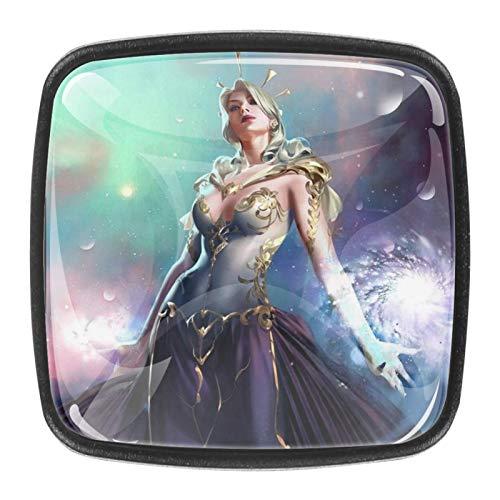 Goddess of lightSquare - Pomo de cristal para gabinete (0,4 piezas)
