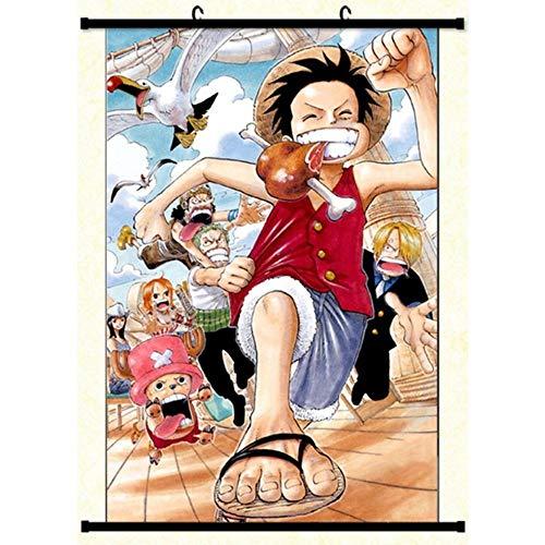 HNJYXX Póster de Anime de una Pieza, póster de Desplazamiento de Pared de Manga, Tela artística, Arte para Sala de Estar, decoración Moderna para el hogar-40x60cm/15.75inchx23.62inch