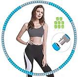 Hula Hoop,6 Secciones Professional Hula Hoop Desmontable, Material de Acero Inoxidable,Puede Perder Peso y Hacer Ejercicio, Adecuado para Fitness, Gimnasia, Juegos de Interior y Exterior(1.2KG)-Azul