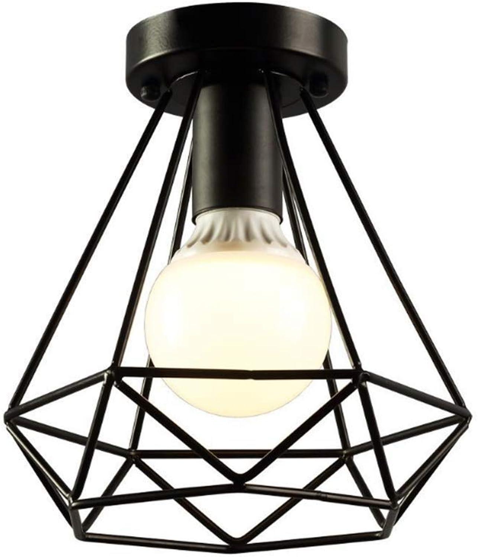 Lámpara colgante Luz Vintage Industrial Mini Pintura Metal Montaje empotrado Lámpara de techo Lámpara colgante para sala de estar, Dormitorio, Montaje empotrado Lámpara de techo E27  1
