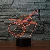 Instrumento musical 3D Dimensional Orchestra Headset Rock Band Luz nocturna Guitarra Lámpara de...