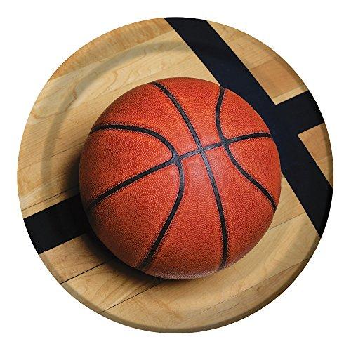 Creative Convertting- Piatto 23 Cm, Basket Fanatic, Multicolore, 8C427964
