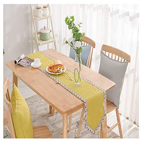 WXIAO eenvoudige tafel loper tuin pastel praktische banket tafelkleed rechthoekig modern land zachte Placemats