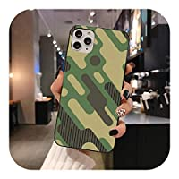 HUJEA カモフラージュパターンfor iPhone 12 pro max 11 pro XS MAX 8 7 6 6S Plus X 5S SE 2020XRケース用カモミリタリーフォンケース-a4-for iPhone XR