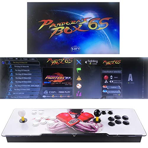 TAPDRA Classic Arcade Video Game Machine, 2 jugadores Pandora Box 6S Newest Home Arcade Console 2700 juegos todo en 1 (35 juegos 3D)