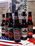 Coffret découverte 6 Bières du Monde 'Amérique du Nord' 6x0.33l Livré dans un coffret cadeau...