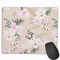 蘭の花 ピンク色 マウスパッド ゲーミング オフィス最適 防水 耐久性が良い 滑り止めゴム底 マウスの精密度を上がる 25x30cm