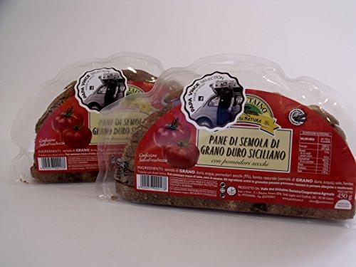 Italienisch - Papa Vince Brot der Greiss des Sizilianischen Hartweizen Mit Getrockneten Tomaten - 2 Paken 900 g