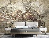Hojas Aves Fresh Green Luxe Wallpaper Decoración para el hogar Arte de la pared Decoración fina Dimensiones Pared Pintado Papel tapiz 3D dormitorio de estar sala sofá mural-250cm×170cm