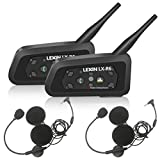 LEXIN R6 2X Pro Motorradhelm Intercom, Bluetooth Motorrad Intercom,Bluetooth-Kommunikations System...