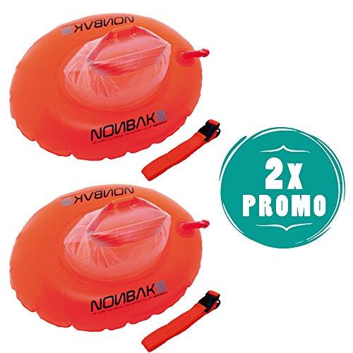 Nonbak Pack 2 Boyas Natacion Nadadores triatletas Aguas Abiertas -Swimming Dry Bags- (Pack X 2 Boyas Donut)