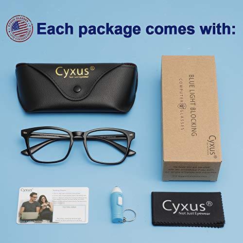 Cyxus Blue Light Glasses Square Computer Eyewear Clear Lens Eyeglasses Frame