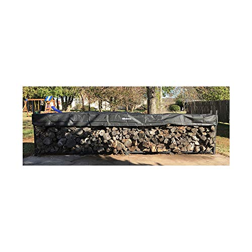Fantastic Deal! Quality Brand Company QBC Woodhaven Firewood Rack 192 WRC 16ft Firewood Rack Black (...