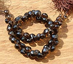 GemAbyss Beads Gemstone 8.5 Inch Long 6x7-8x9 mm Natural Smoky Quartz Faceted Onion Briolette Beads Code-MVG-42435