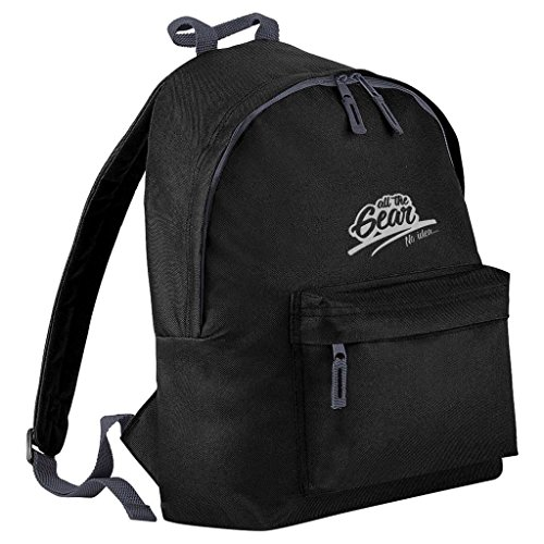 All The Gear No Idea Mountain Biking Embroidered Rucksack-Black