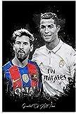 Rompecabezas Adultos Niños Puzzle 300 Piezas Cristiano Ronaldo Messi, 300 Piece 15.7x11inch(40x28cm) Sin Marco