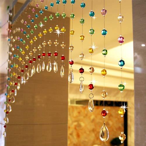 PINDIA Bead, Glass Curtain, 5 Feet, Multicolour, Pack of 30 Strings
