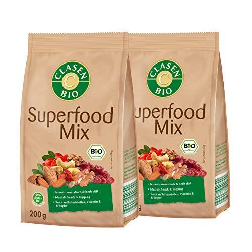 2x CLASEN BIO Superfood Mix , Nuss-Frucht-Mischung - 200 g