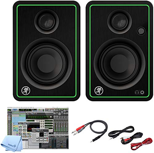 Read About Mackie CR3-X 3-Inch Creative Reference Multimedia Monitors Bundle with and Pro Cable Kit ...