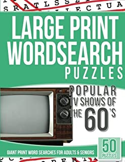 Large Print Wordsearches Puzzles Popular TV Shows of the 60s: Giant Print Word Searches for Adults & Seniors