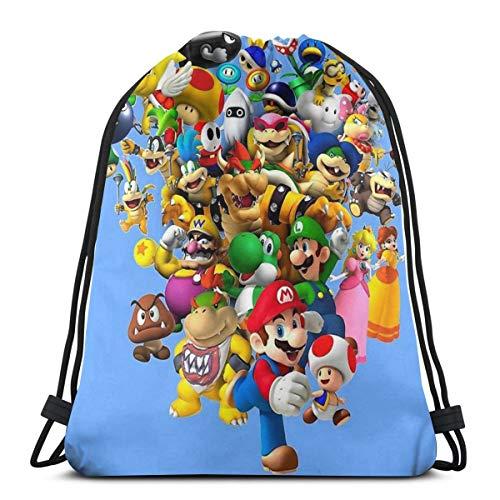 Not Applicable Mario Bros: All Star   Bolsa de gimnasio con cordón