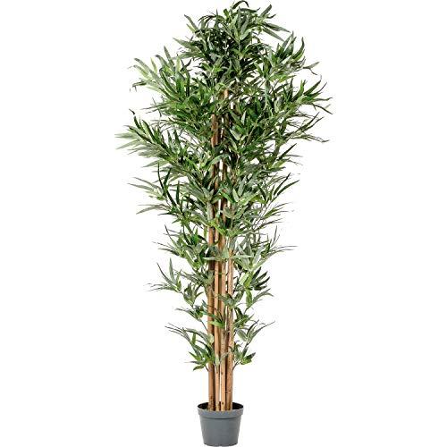 PLANTASIA® Bambus-Strauch, Echtholzstamm, Kunstbaum, Kunstpflanze - 190 cm Schadstoffgeprüft