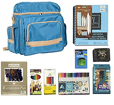 Ultimate Drawing/Sketching Artist Set with Heritage Traveler Backpack