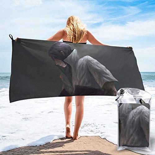 Toalla de secado rápido, perfecta para viajes, playa, suave, de secado rápido, apta para camping, gimnasio, playa, natación, bolsa de viaje de 31,5 x 63 x 139,7 cm