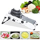 Nirva Professional Vegetable Grater Adjustable Stainless Steel Mandoline Slicer with Holder Cuts Fruits and Vegetables Cutter