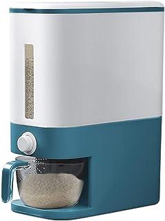 Seau à riz doseur de grande capacité Boîte de rangement de riz domestique 10 kg Stockage du grain résistant à l'humidité S...