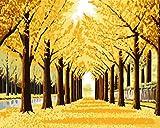 LLXPDZ Juego de pintura al óleo digital DIY adecuado para ni?os adultos principiantes decoración del hogar lienzo pintura acrílica Tierra dorada Sin marco 40x50cm