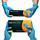 Nitrile Powder Free Multi-Purpose Gloves, Disposable, Extra Strong - Box of 100